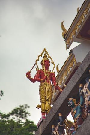 vishnu: Hindu God Vishnu at Wat Kao Rang, Phuket, Thailand