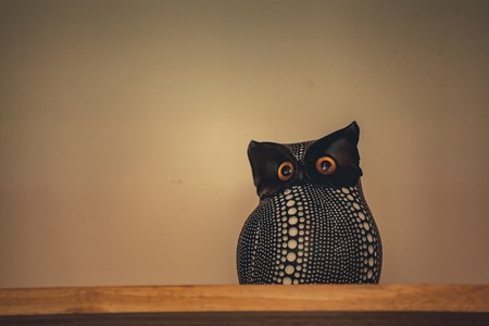 meaningful: Owl decorations meaningful symbol of happiness and good luck. Stock Photo