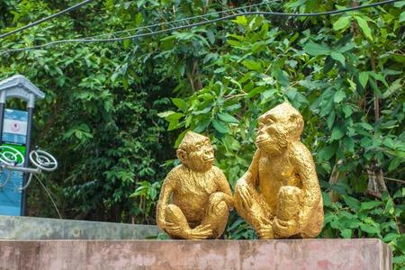descendants: Monkey statues Monkey Mountain( toh-sae Mountain) in Phuket, Thailand.