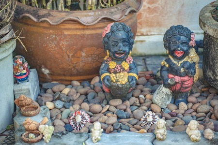 ornamental garden: happy dolls in garden southern Thailand ornamental garden.