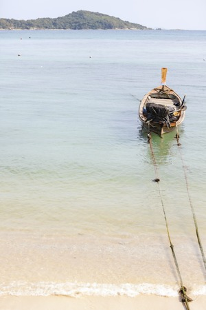boater: Tourist boats,Rawai Beach ,Phuket ,Thailand Stock Photo