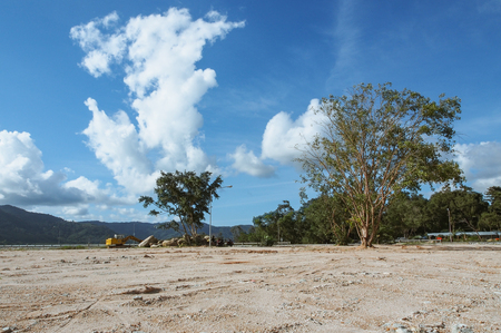 megawatts: The soil in the Bang Ward dam construction. Stock Photo