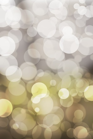 distractions: Bokeh and Bright golden lights. abstract background Stock Photo