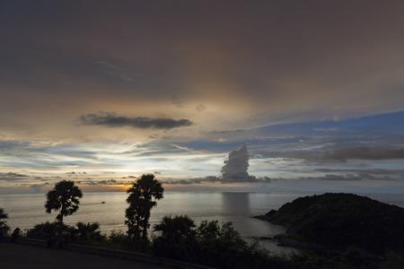 sihouette: Sihouette Sunset at Phromthep cape Phuket  Thailand