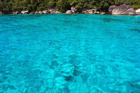 similan islands: Beautiful tropical beach ,Similan Islands or nine Similan Islands consists of nine small islands in the Andaman Sea. With clear waters ideal for diving tourism, Thailand. Stock Photo