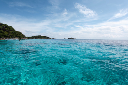 similan islands: Beautiful Similan Islands or nine Similan Islands consists of nine small islands in the Andaman Sea. With clear waters ideal for diving tourism, Thailand. Stock Photo