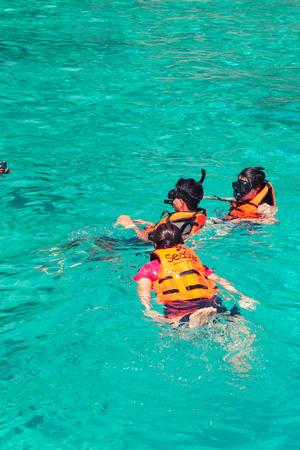 dive trip: Similan island, Thailand-Nov 09, 2015 : Tour Similan Islands clear water beautiful sea like a heaven at Similan island, Phang-nga Thailand Editorial