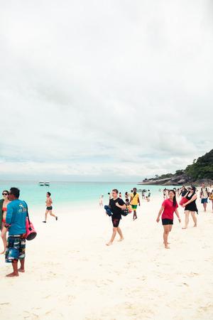similan: Similan island, Thailand-Nov 09, 2015 : Tour Similan Islands clear water beautiful sea like a heaven at Similan island, Phang-nga Thailand Editorial