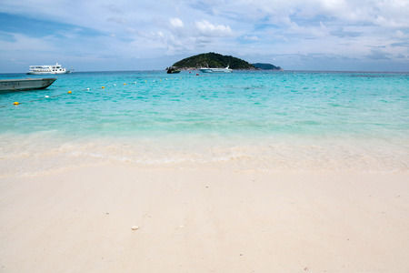similan islands: Beautiful white sand beach, clear water, white sand and sea tourism Nature. at Koh Miang  ,Similan Islands