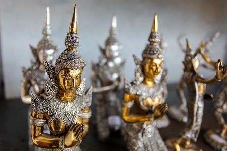 exquisite fairy: statue angle in thai temple