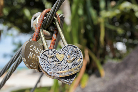 master: Golden master key heart lock cable