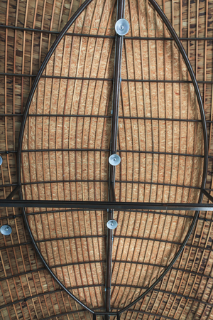 roof ridge: Roof structure composed of wooden and steel