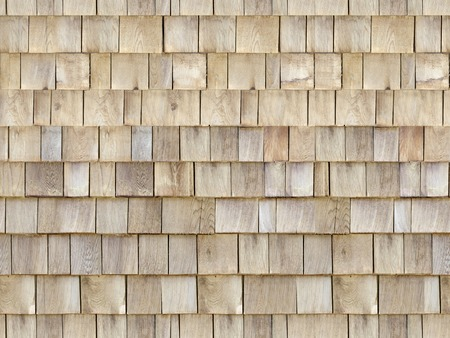 Close up of brown wood roof shingles,Texture