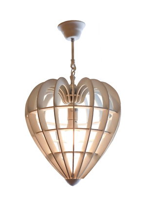 Hanging lamp,Modern lamps decorated heart-shaped white background.