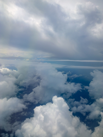 Sky view of cloudscape and earth