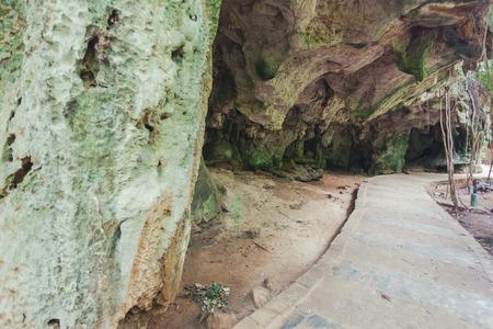 phra nang: Phra Nang cave on Phra Nang beach, locations in Krabi, Thailand Stock Photo
