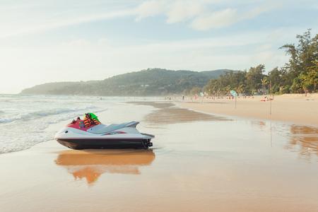 Kata, Karon beach, Thailand - August 21th 2016 - Tourist and locals enjoying tropical beach in Kata, Karon, southern of Phuket, Thailand Editorial