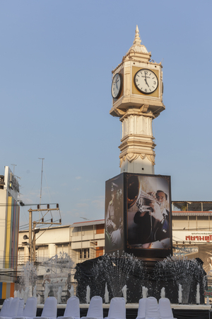 Phitsanulok, Thailand - November 7, 2016: The people of Thailand gathered in front of the clock tower, Phitsanulok The ceremony to commemorate King Bhumibol Adulyadej. Editorial