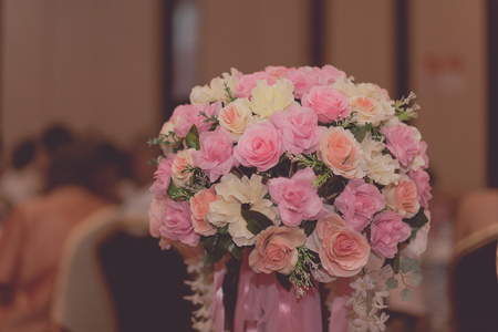 sepia.: Wedding bouquet with filter effect retro vintage style