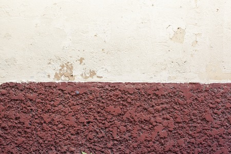 plaster board: white and brown plaster wall for background or texture