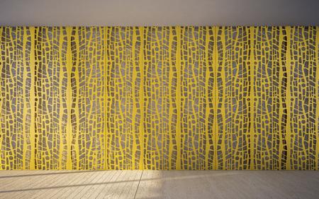 Wall Golden Decor, 3d Structure Design,3d rendering