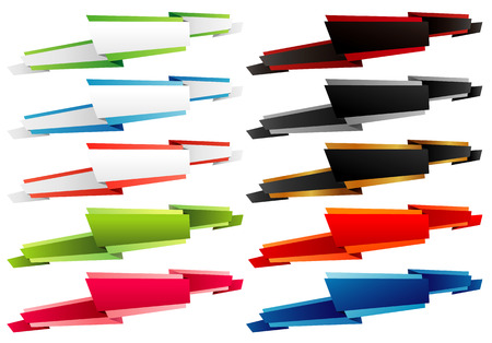 Ribbon tag objects Background