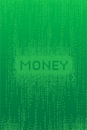 Money Matrix style Background  Ilustracja