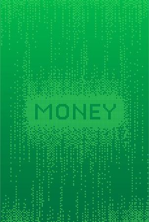 Money Matrix style Background  Illustration