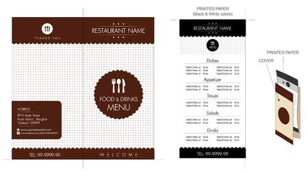 main course: Restaurant & Cafe menu design