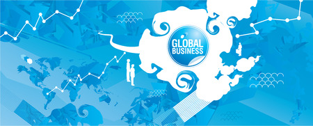 Global Business Visual - Contemporary style Ilustracja