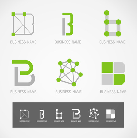 interior decoration: Logo and Symbol design \\\B\\\ concept Illustration