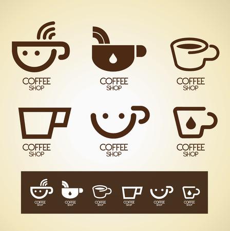 icon and Symbol design coffee concept