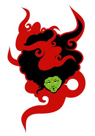 Modern Afro vector illustration Ilustracja