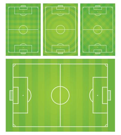 FootballSoccer field vector illustration
