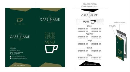 main dishes: Restaurant & Cafe menu design