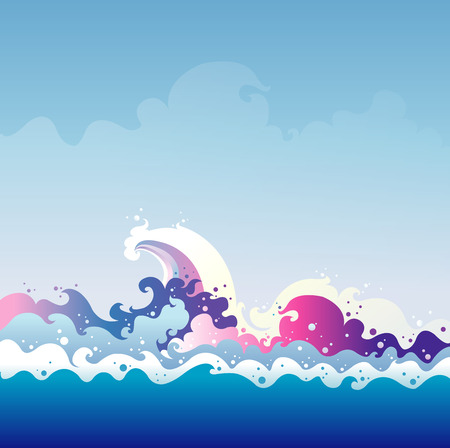 tidal wave: Tidal Wave vector graphic illustration