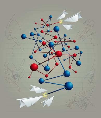 Potlood en papier Games vector illustratie