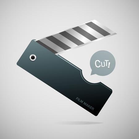 Film slate cutter vector illustration
