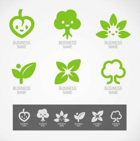 Symbol design eco concept Ilustracja