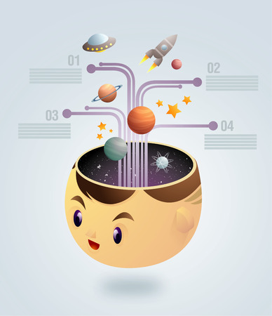 Astrology - education Infographic vector illustration