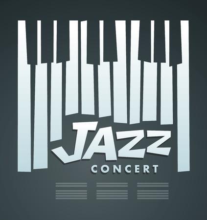Jazz concert de musique et festival, modèle affiche de fond. Piano Vecteurs