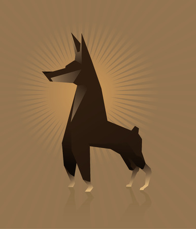 doberman: Dog Doberman Vektor-Illustration flachen Stil Illustration