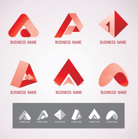 로고 및 기호 디자인 개념 일러스트