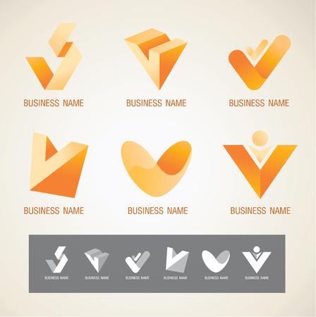 Logo and Symbol design V concept