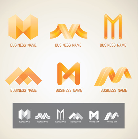industry logo: Logo and Symbol design M concept