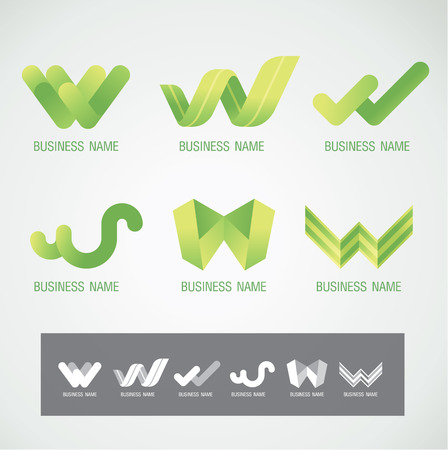 business graphics: Logo and Symbol design W concept