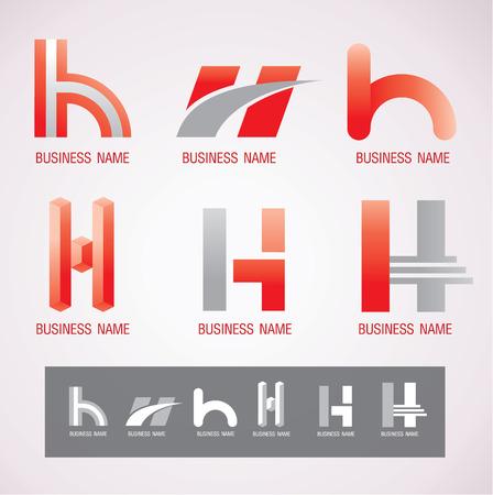 Symbol design H concept