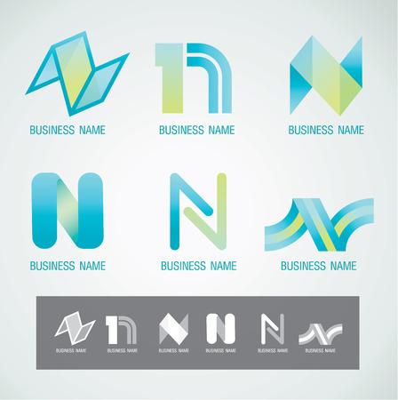 로고와 심볼 디자인 N 개념 일러스트