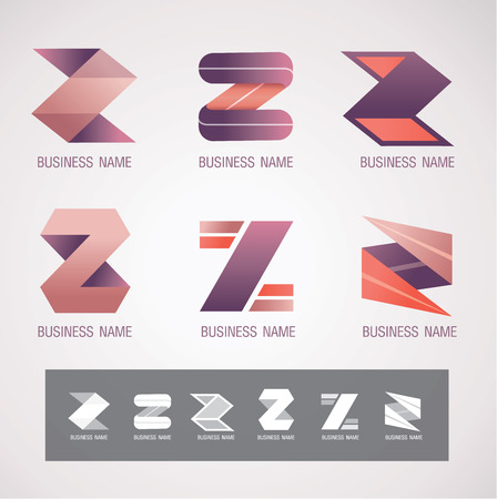 icon and Symbol design Z concept