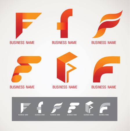 architect:  Symbol design F concept, illustration